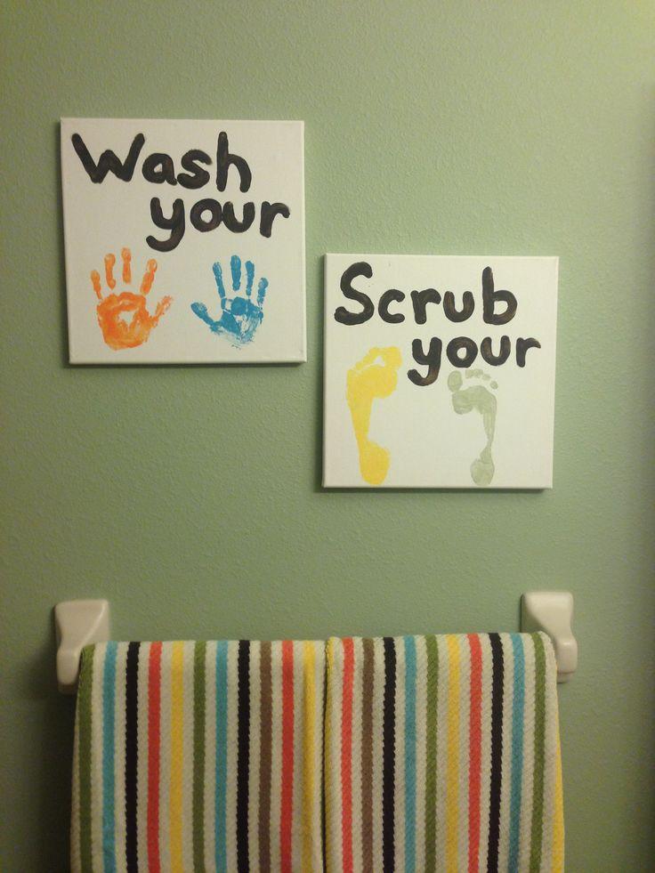kids bathroom art ideas photo - 4