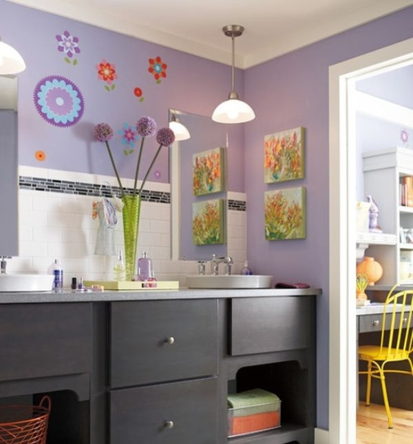 kids bathroom art ideas photo - 5