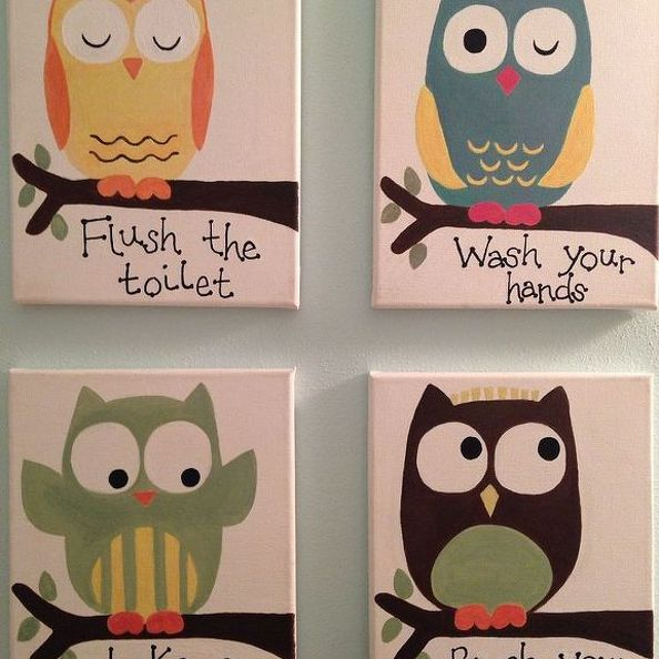 kids bathroom art ideas photo - 6