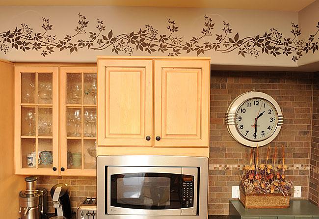 kitchen cabinet stencil ideas photo - 4