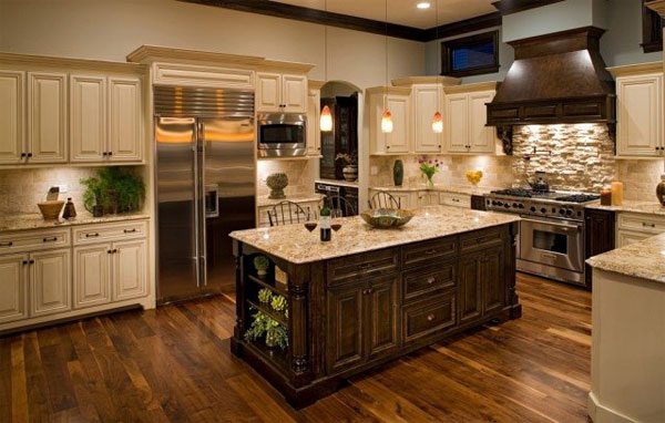 l shaped kitchen island photo - 3