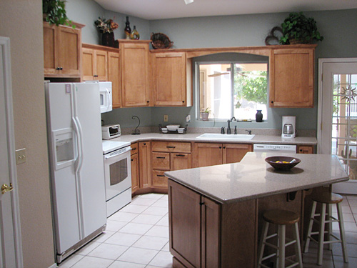 l shaped kitchen island photo - 4