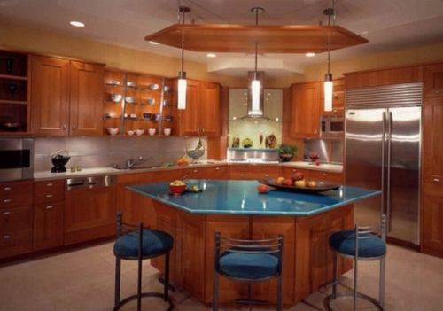 l shaped kitchen island photo - 6