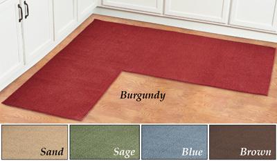 l shaped kitchen rug photo - 6