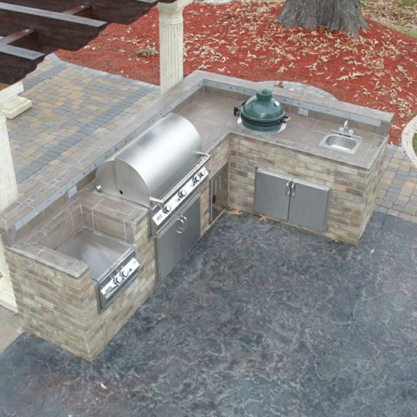 l shaped outdoor kitchen plans photo - 6