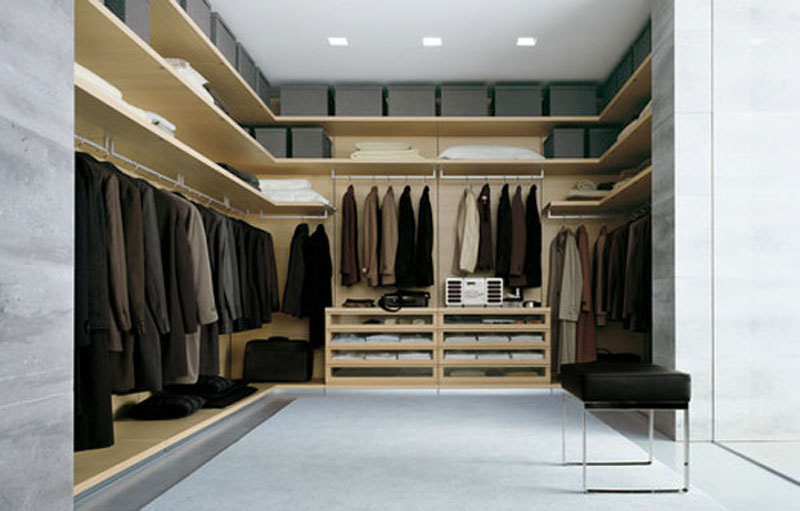 large walk in closet design photo - 1
