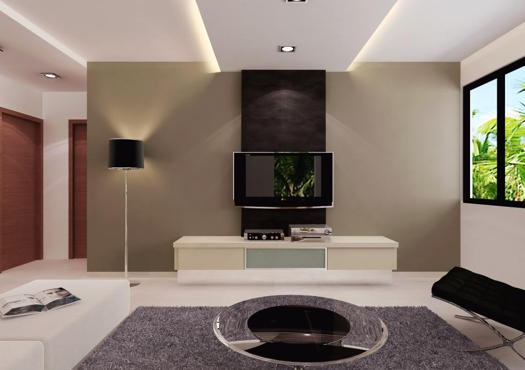 living room lcd tv wall unit design ideas photo - 3