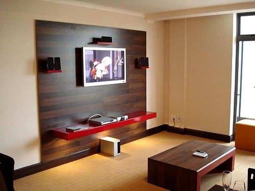 living room lcd tv wall unit design ideas photo - 6