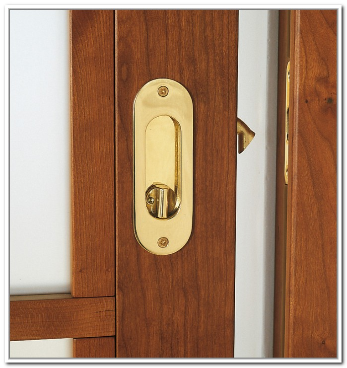 mirrored sliding closet door lock photo - 3