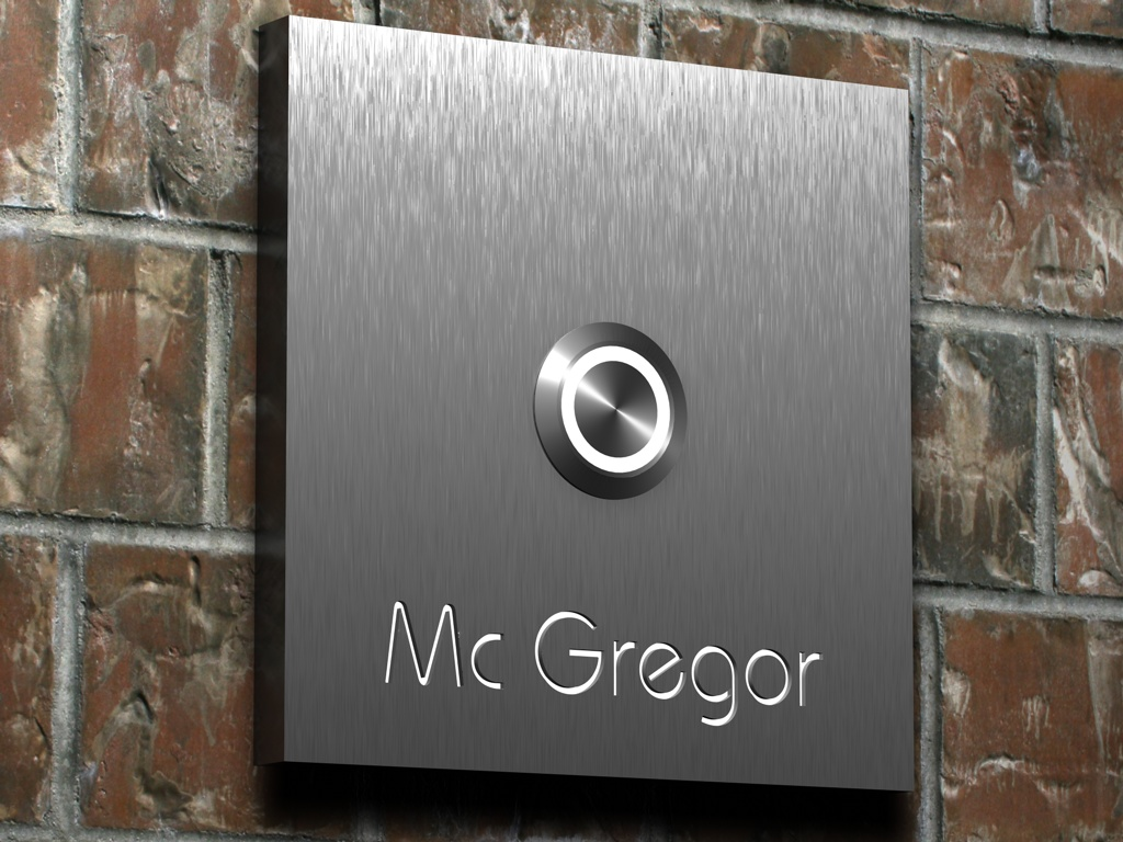 modern design door bell photo - 3