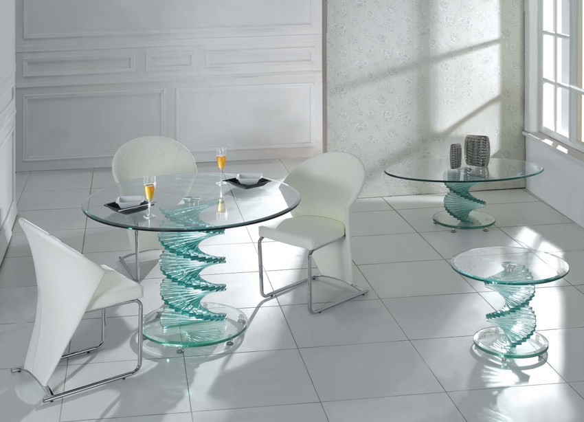 modern glass furniture design photo - 5