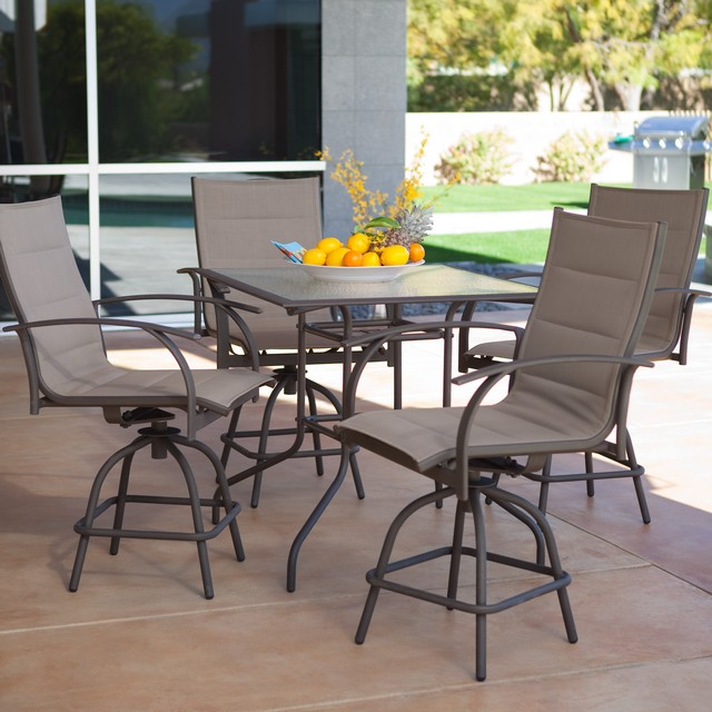outdoor bar height furniture sets photo - 1