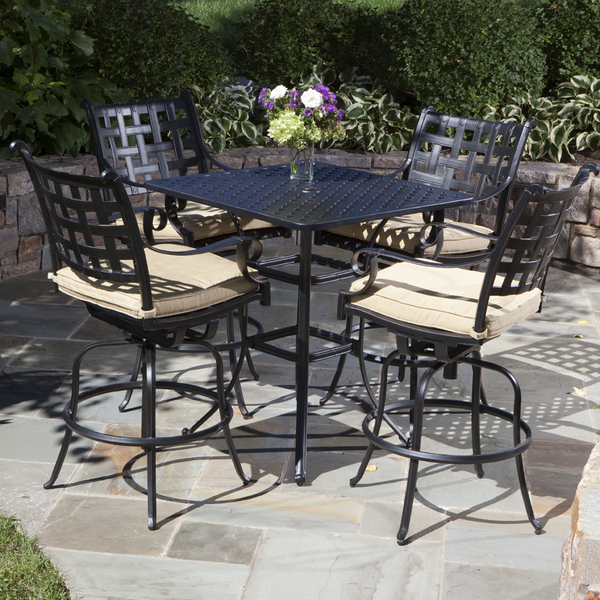 outdoor bar height furniture sets photo - 2