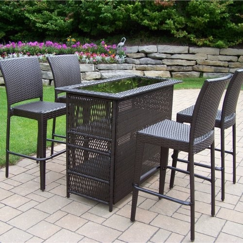 outdoor bar height furniture sets photo - 3
