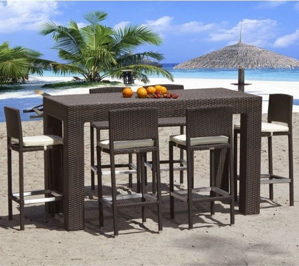 outdoor bar height furniture sets photo - 6