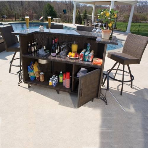 outdoor bar sets clearance photo - 1