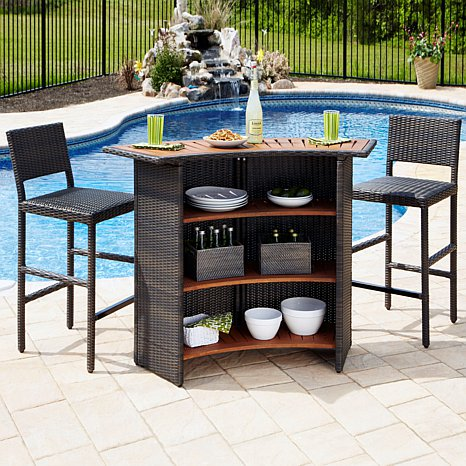 outdoor bar sets clearance photo - 4