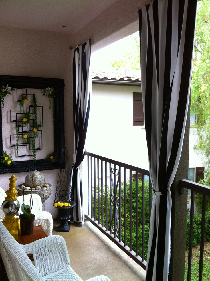 outdoor curtains balcony photo - 1