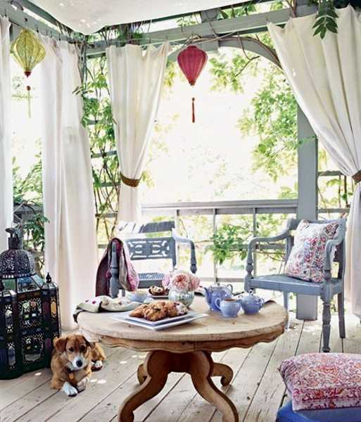 outdoor curtains balcony photo - 6