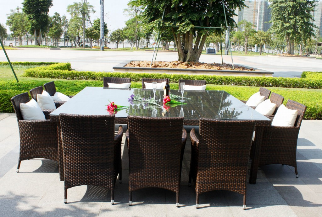 outdoor dining sets for 12 photo - 3
