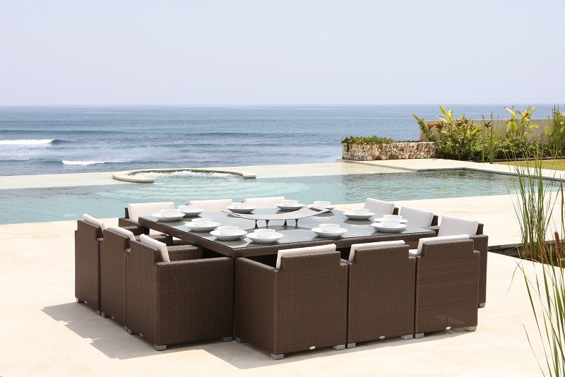 outdoor dining sets for 12 photo - 6
