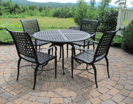 outdoor dining sets iron photo - 2