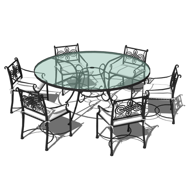outdoor dining sets iron photo - 4