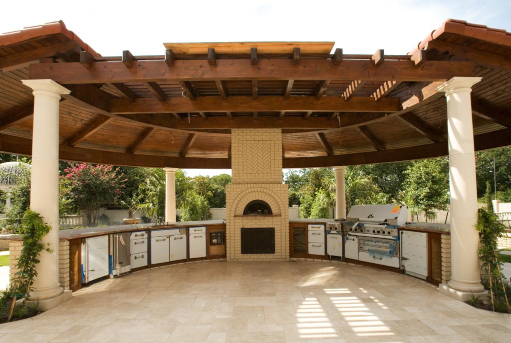 outdoor kitchen gazebo photo - 4