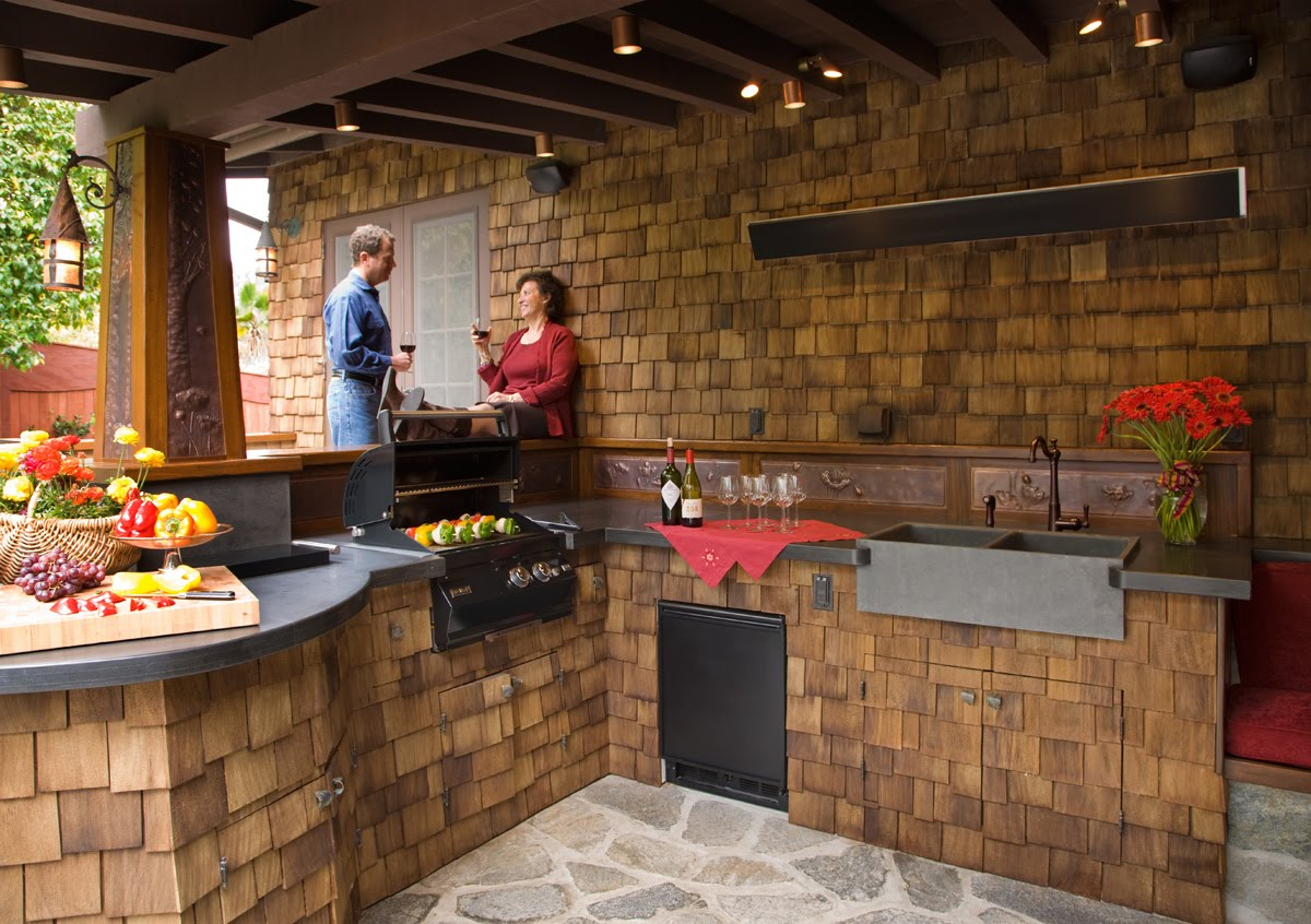 outdoor kitchen lighting design photo - 1