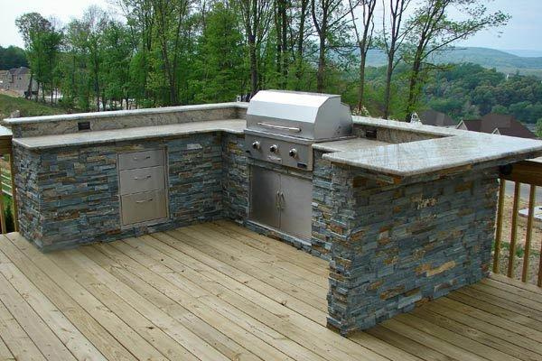 outdoor kitchen on deck photo - 1