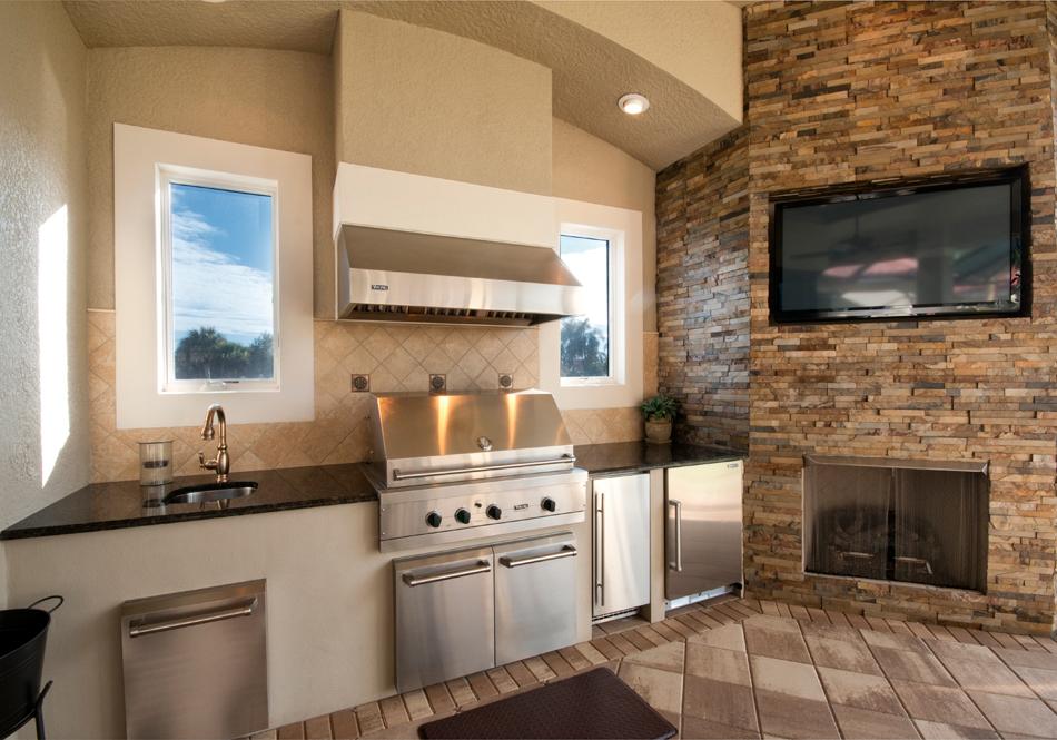 outdoor kitchen ventilation photo - 2