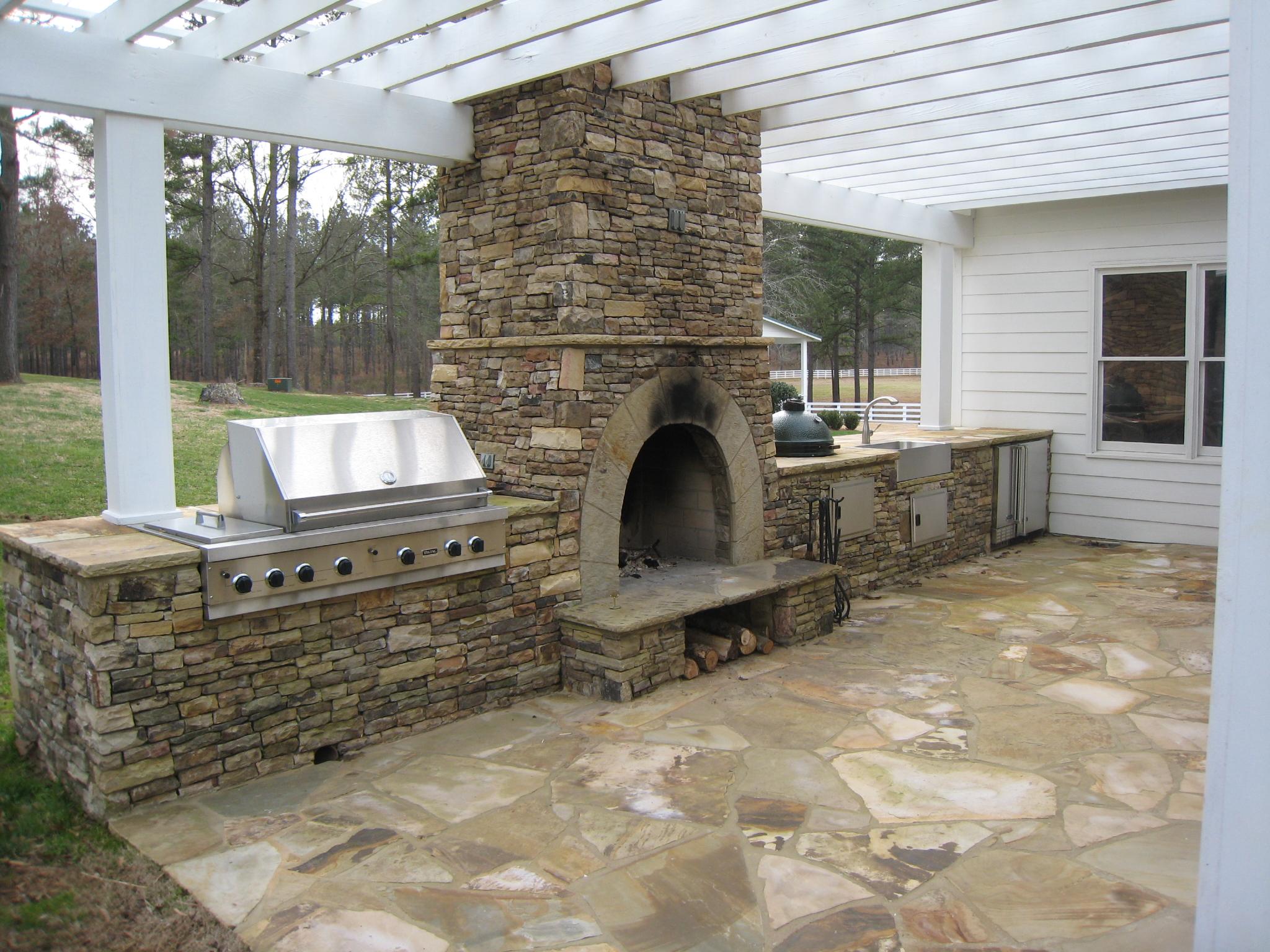 outdoor kitchen ventilation photo - 5