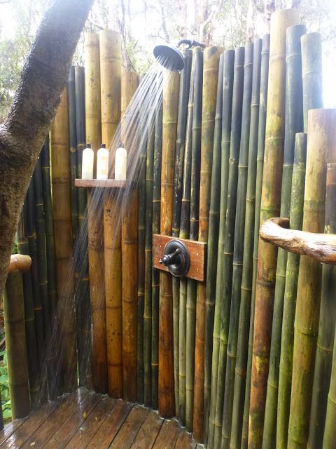 outdoor shower bamboo photo - 1