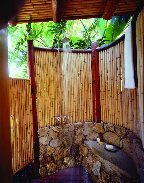 outdoor shower bamboo photo - 4