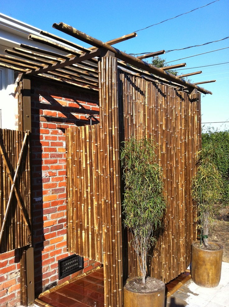 outdoor shower bamboo photo - 6