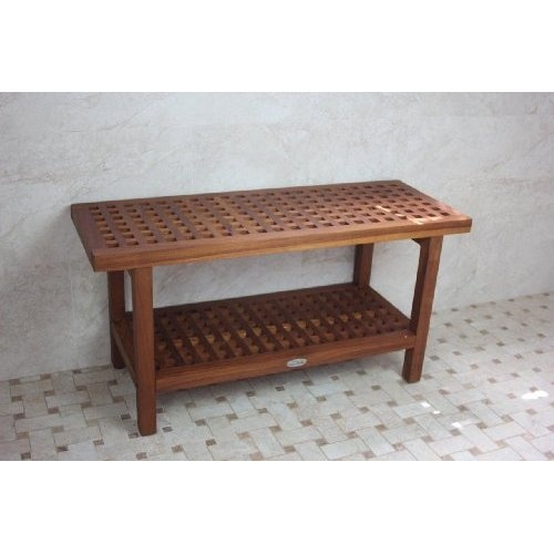 outdoor shower bench photo - 5
