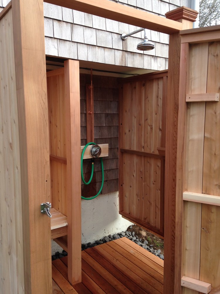 outdoor shower bench photo - 6