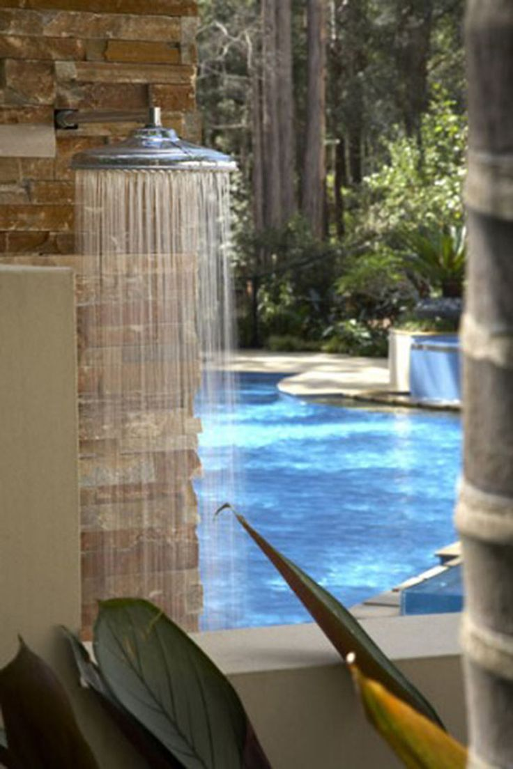 outdoor shower for pool photo - 3