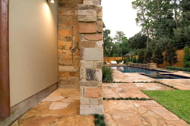 outdoor shower for pool photo - 5