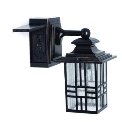 outdoor wall light with built in outlet photo - 3