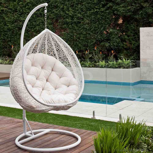outdoor wicker egg chair photo - 6