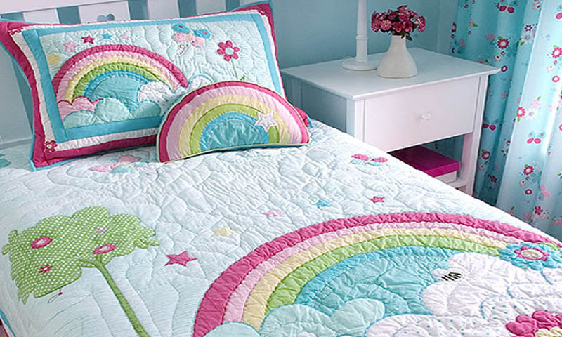 rainbow bedding for kids photo - 4