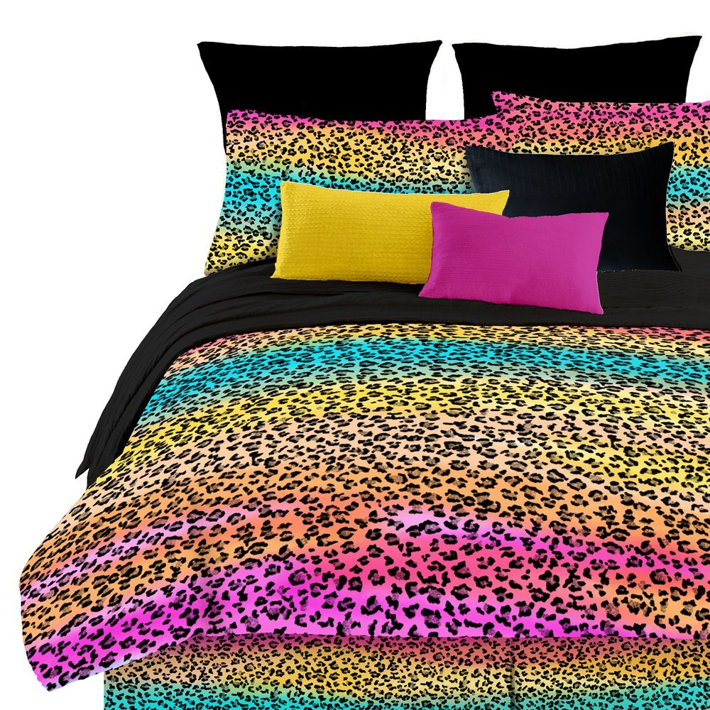 rainbow cheetah bedding photo - 1