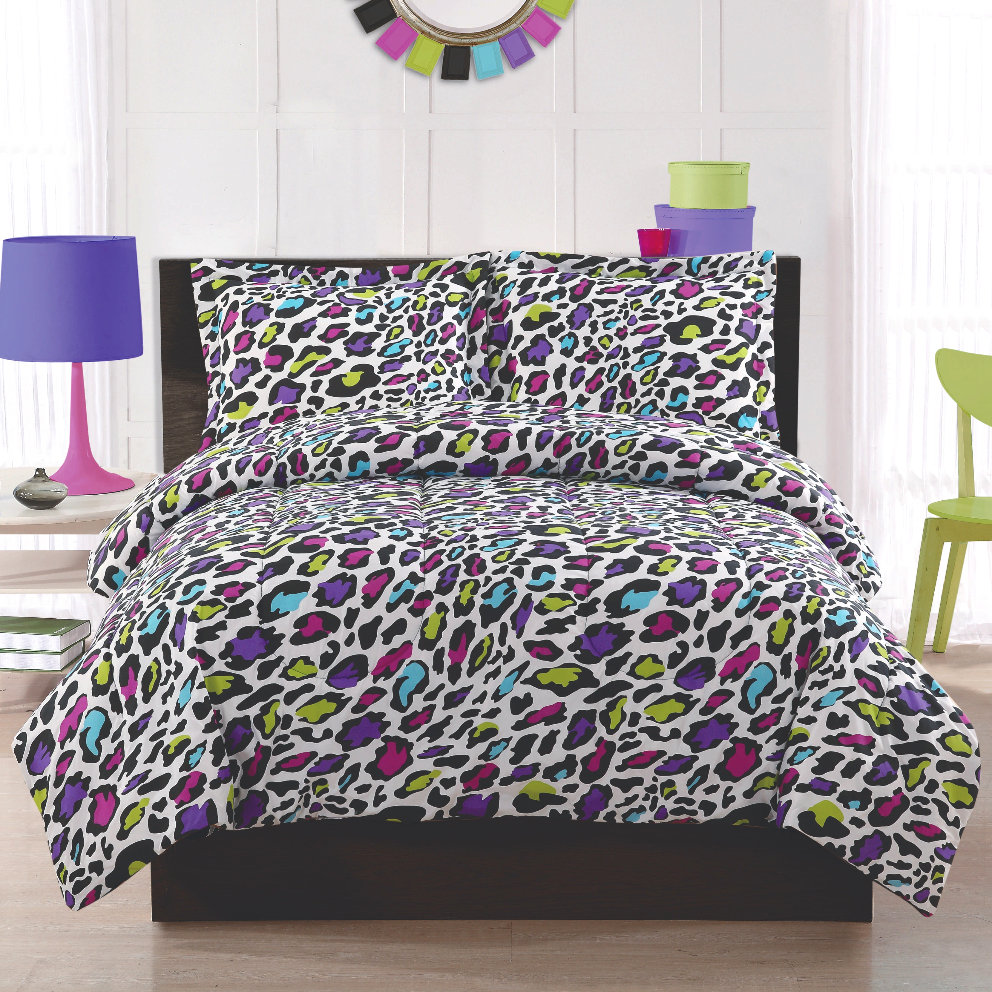 rainbow cheetah bedding photo - 2