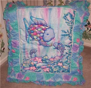 rainbow fish bedding for crib photo - 5