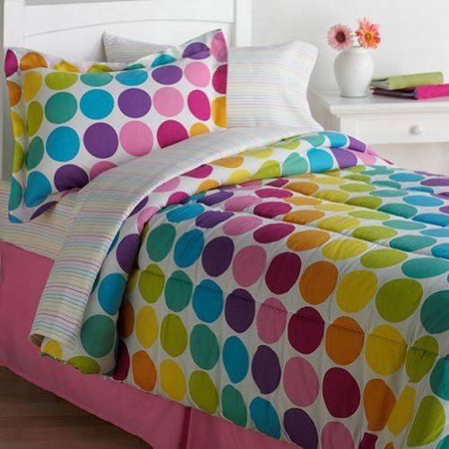 rainbow polka dot bedding photo - 4