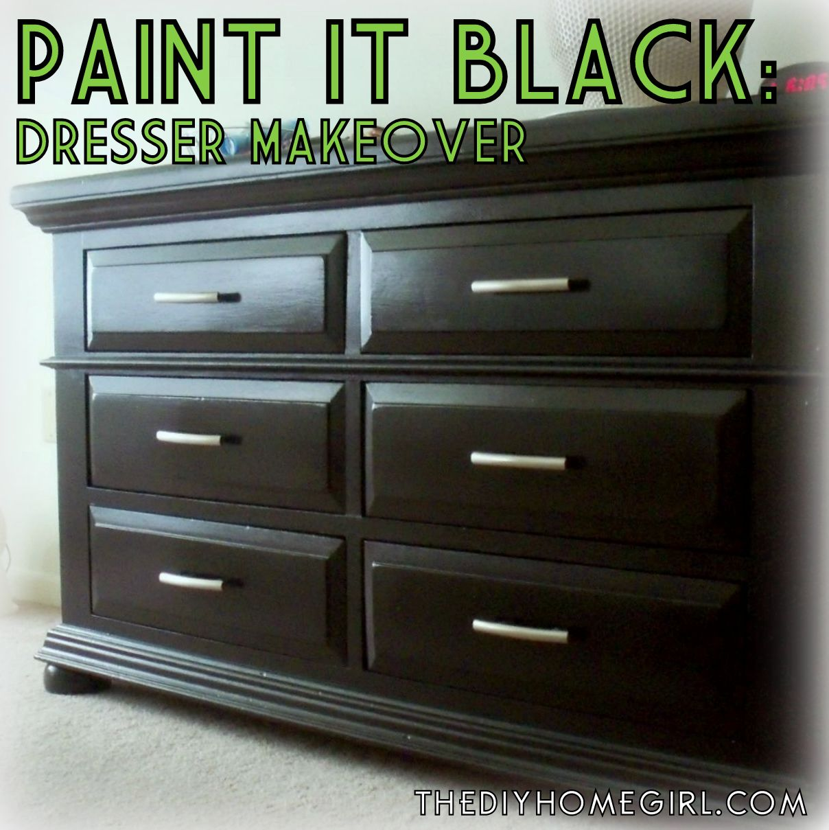 refinishing bedroom furniture black photo - 2