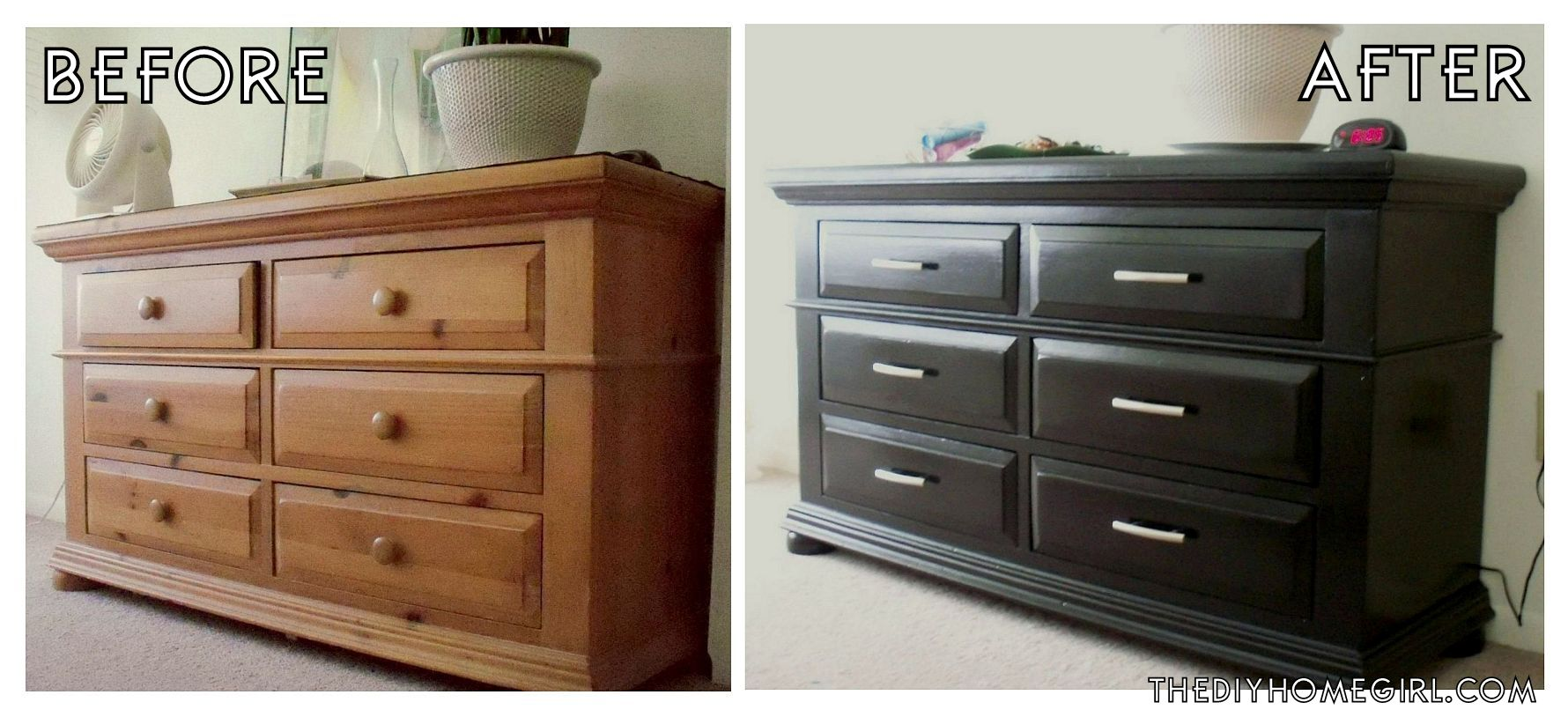 refinishing bedroom furniture black photo - 6