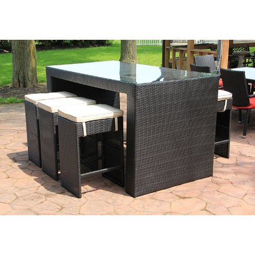 resin outdoor bar sets photo - 2