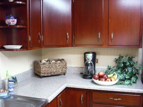 restaining kitchen cabinets gel stain photo - 2